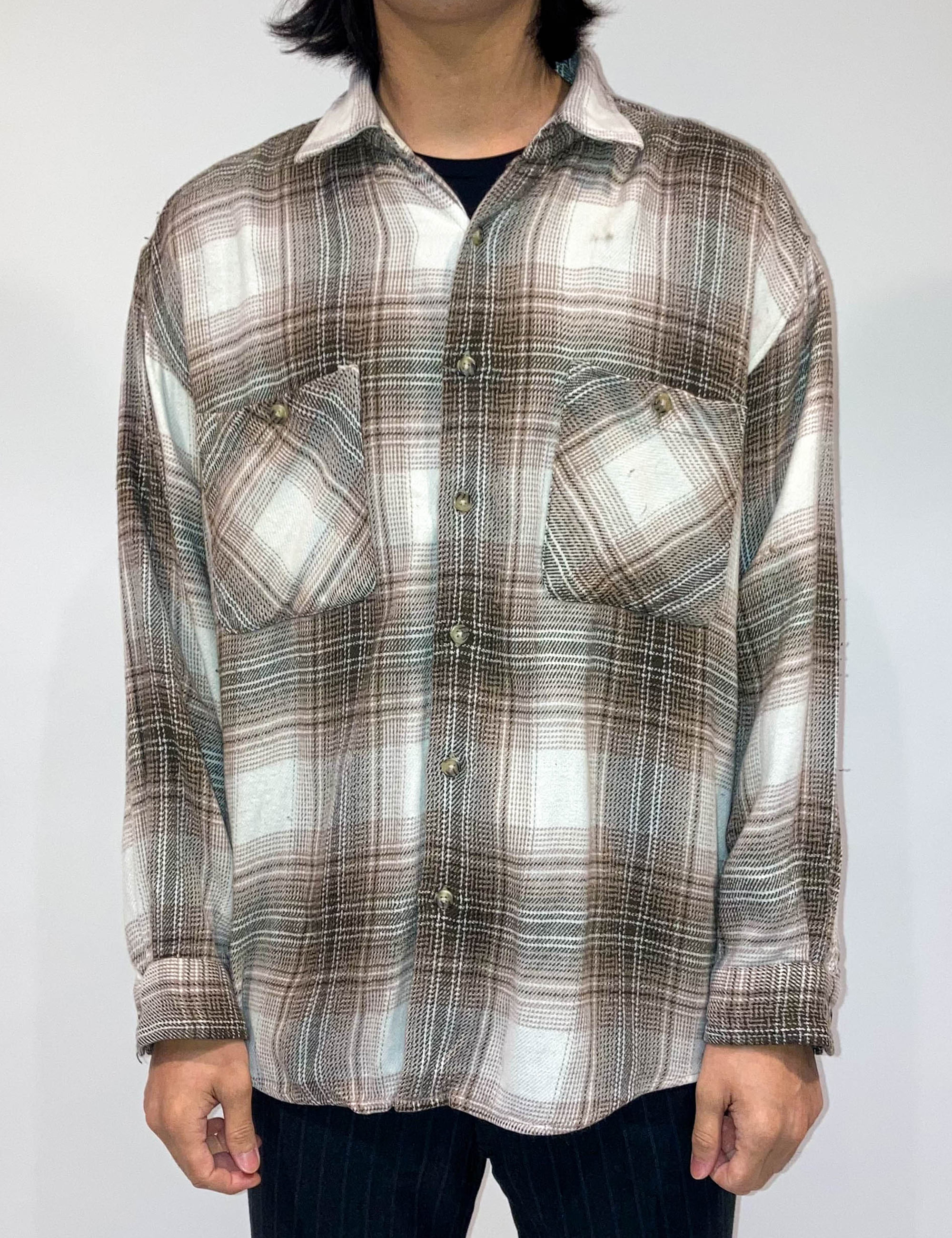 VINTAGE FRONT POCKET CHECK SHIRT