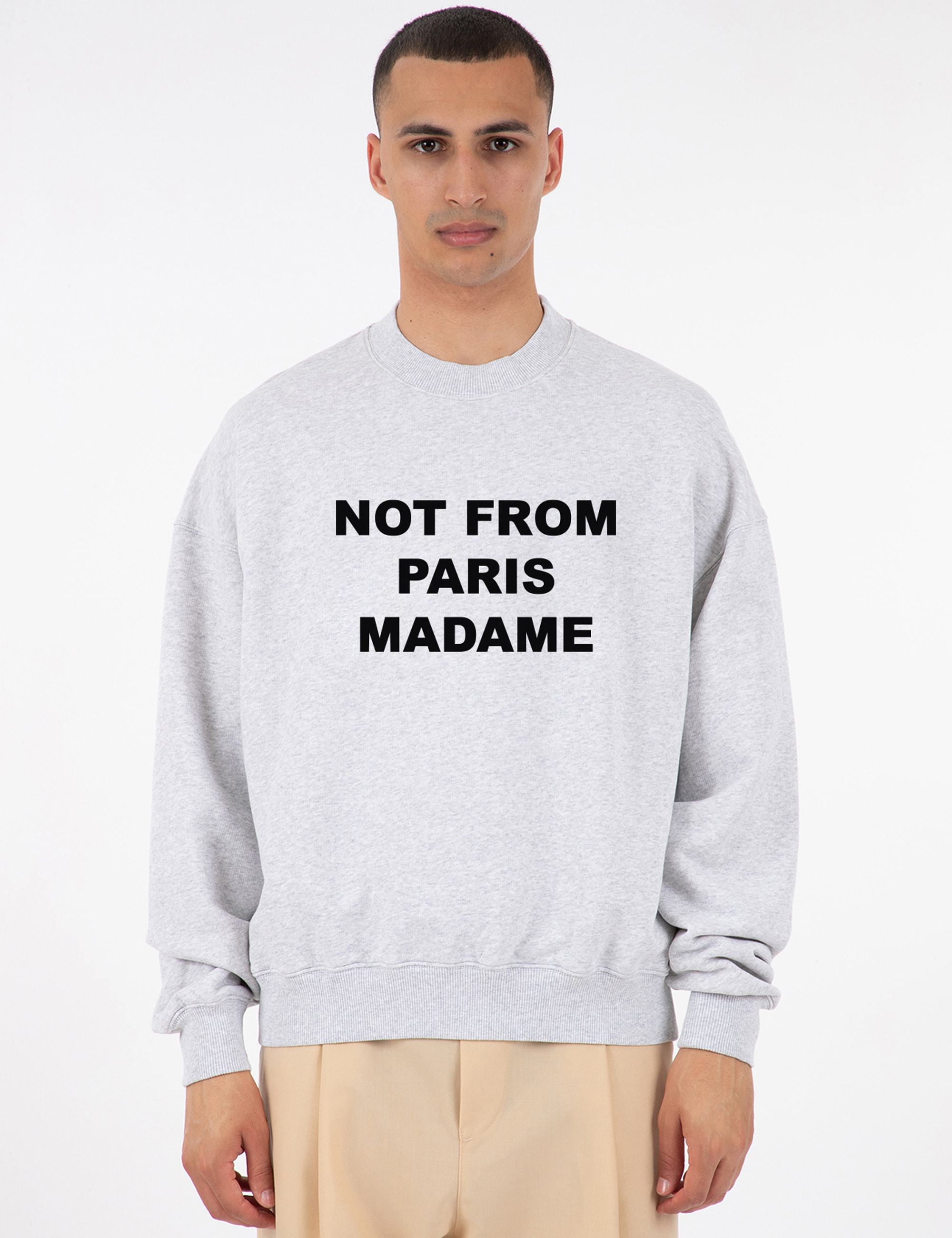 SLOGAN EMBROIDERED SWEATSHIRT_GREY