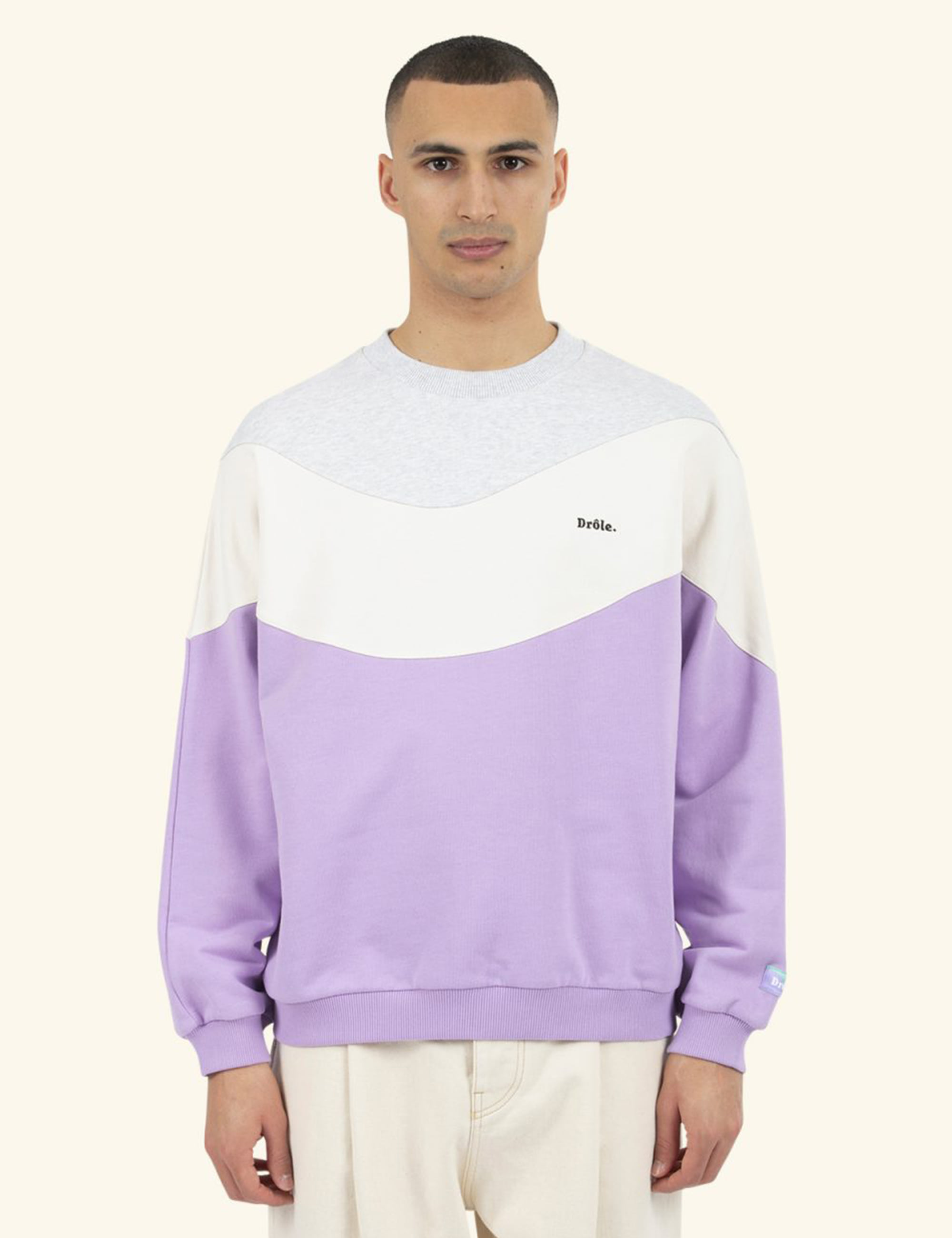 DROLE WAVE SWEATSHIRT_PURPLE