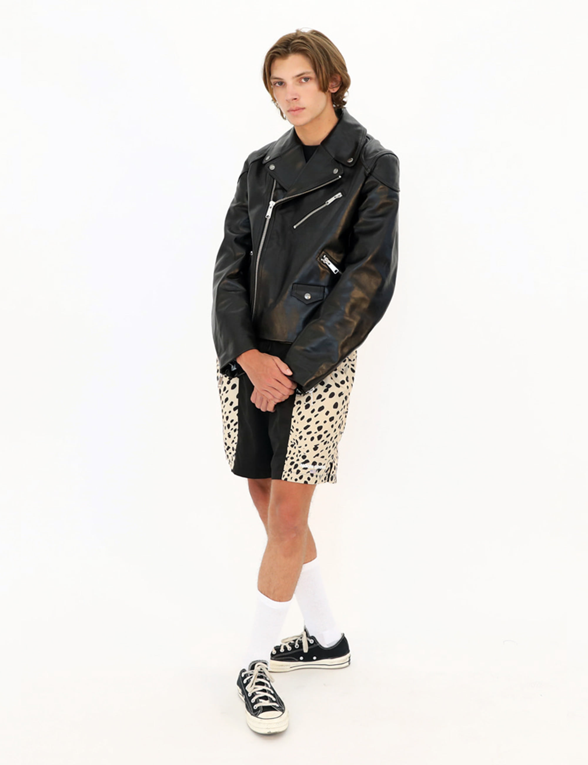 FOAMERS SHORT_LEOPARD/BLACK