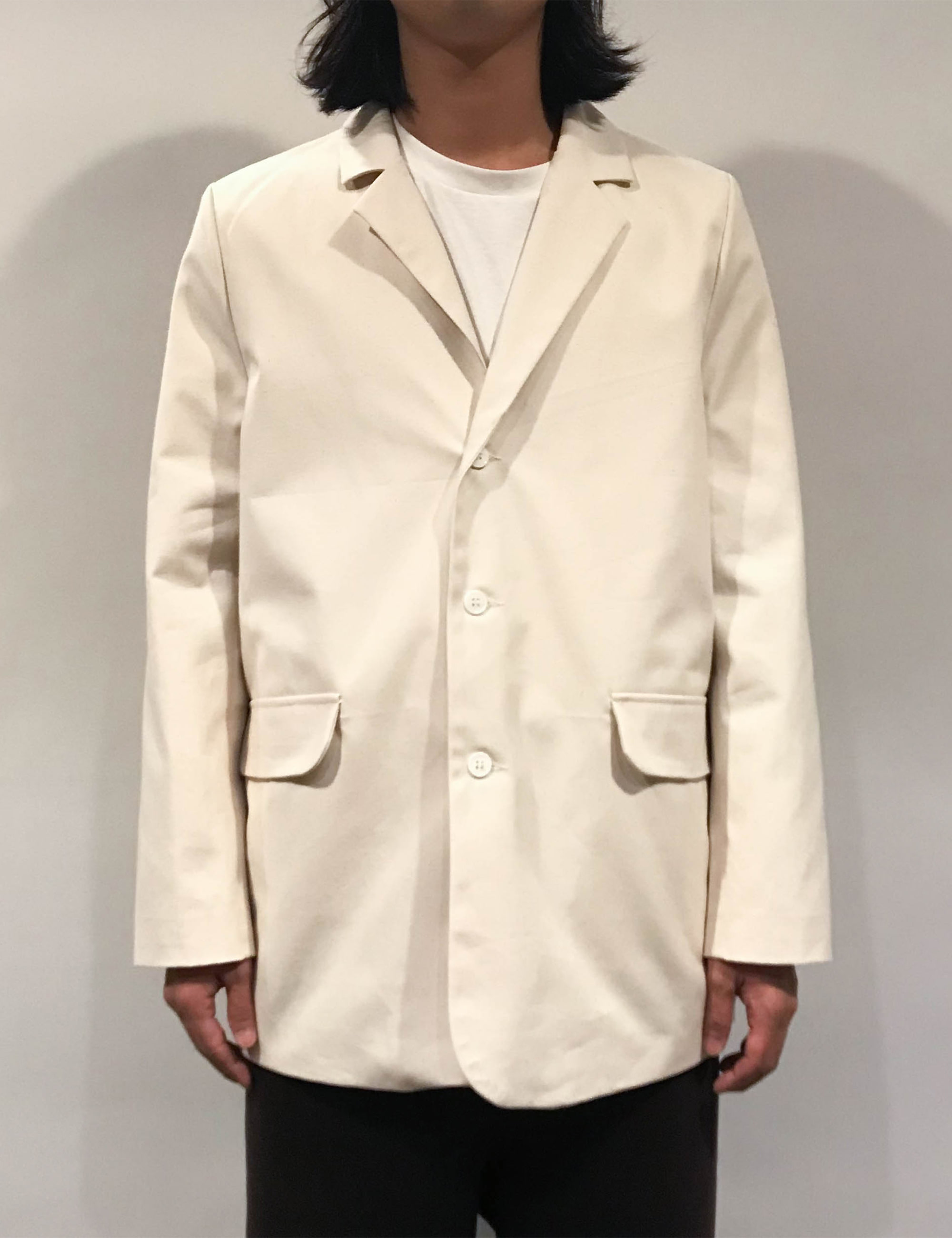CASUAL SUIT JACKET CANVAS OFF-WHITE