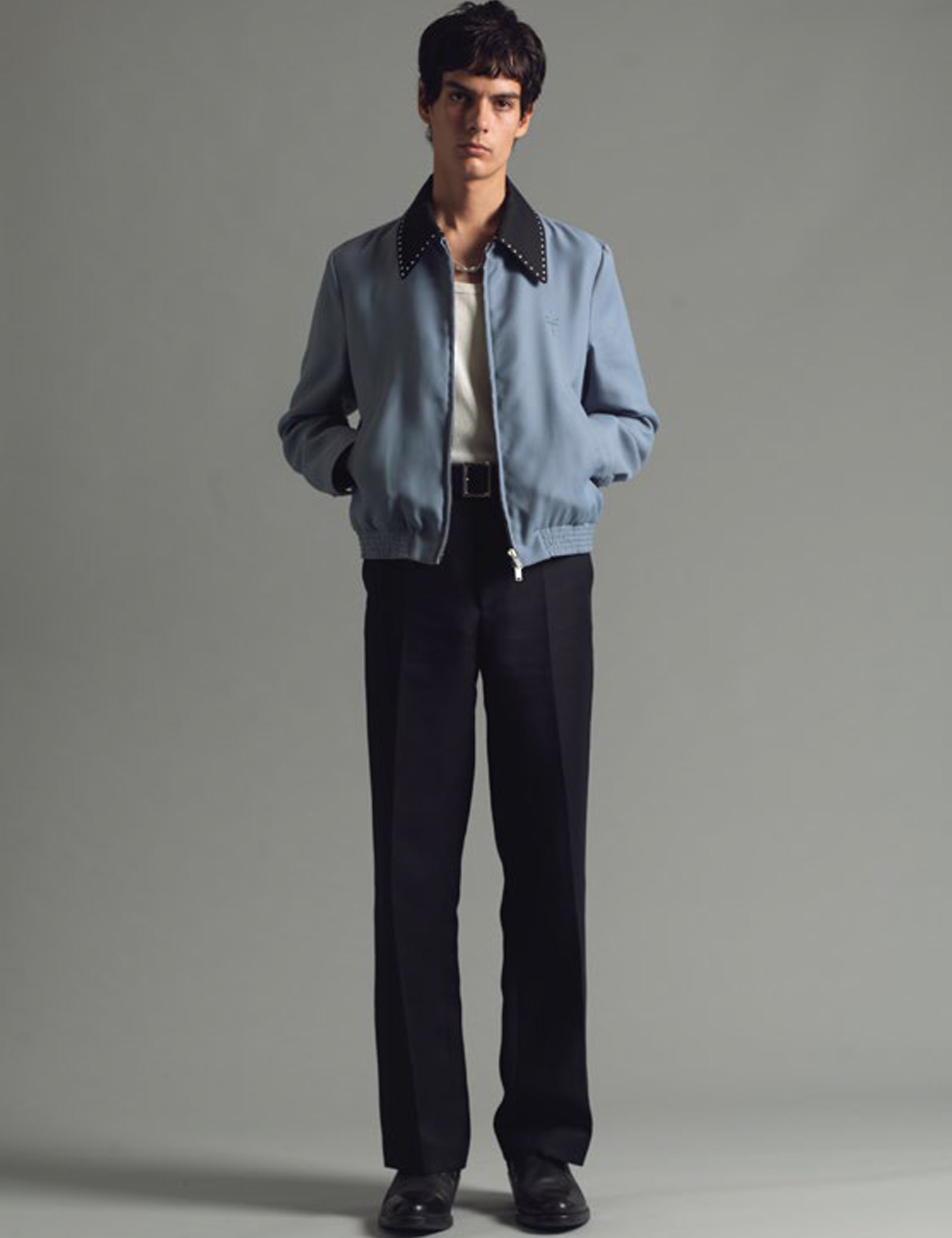 PROFONDO BLOUSON_ANGEL BLUE