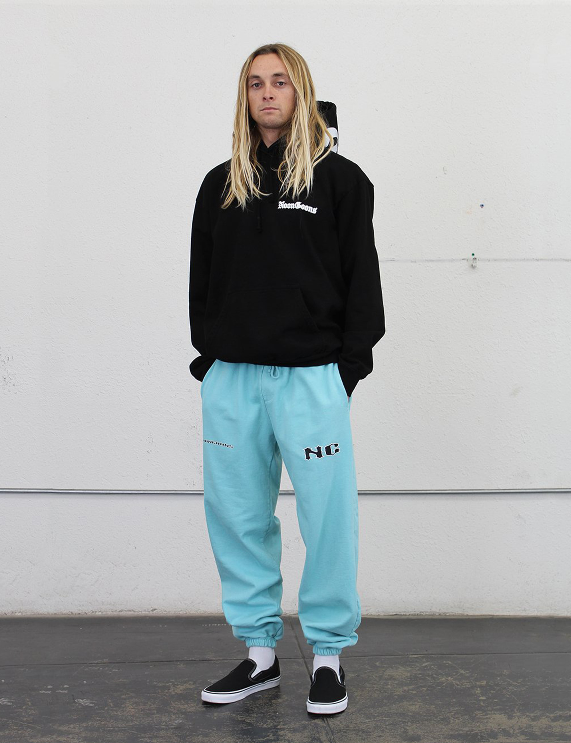 ICON SWEAT PANTS_POOL BLUE