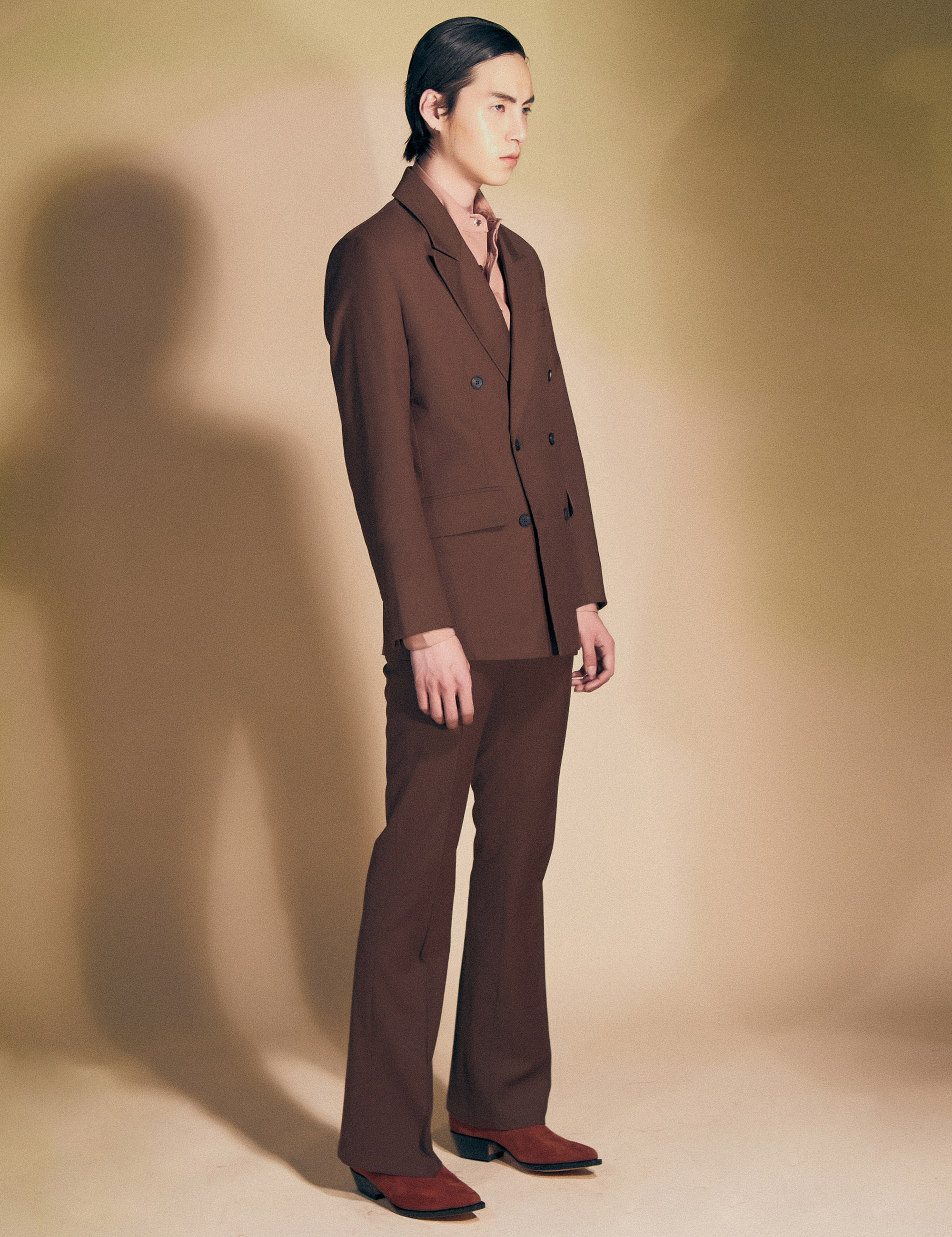 CLASSIC SUIT JACKET_BROWN