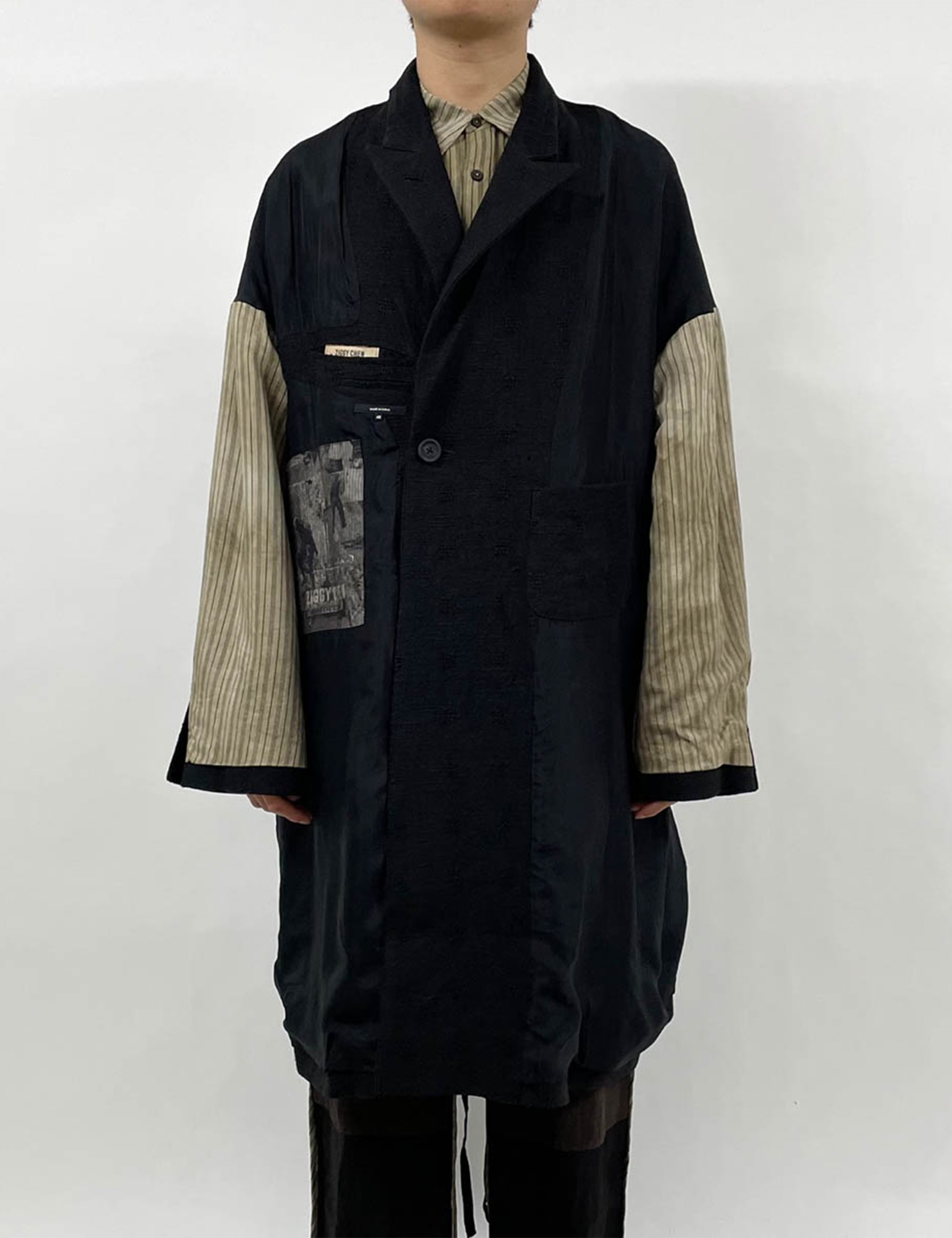 OVERSIZED REVERSIBLE DOUBLE-BREASTED COAT